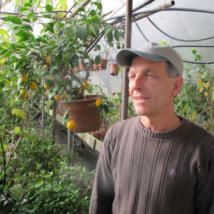 Byron Martin in Logee's Greenhouse